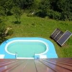 bazén v záhrade