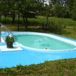 Sklolaminátový bazén v záhradke