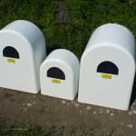 Kryty plynomeru sklolaminátové - rôzne veľkosti